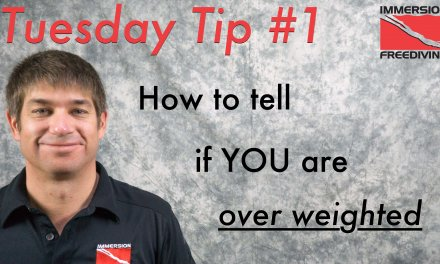 Tuesday's Tip #1 Test if you are overweighted for spearfishing